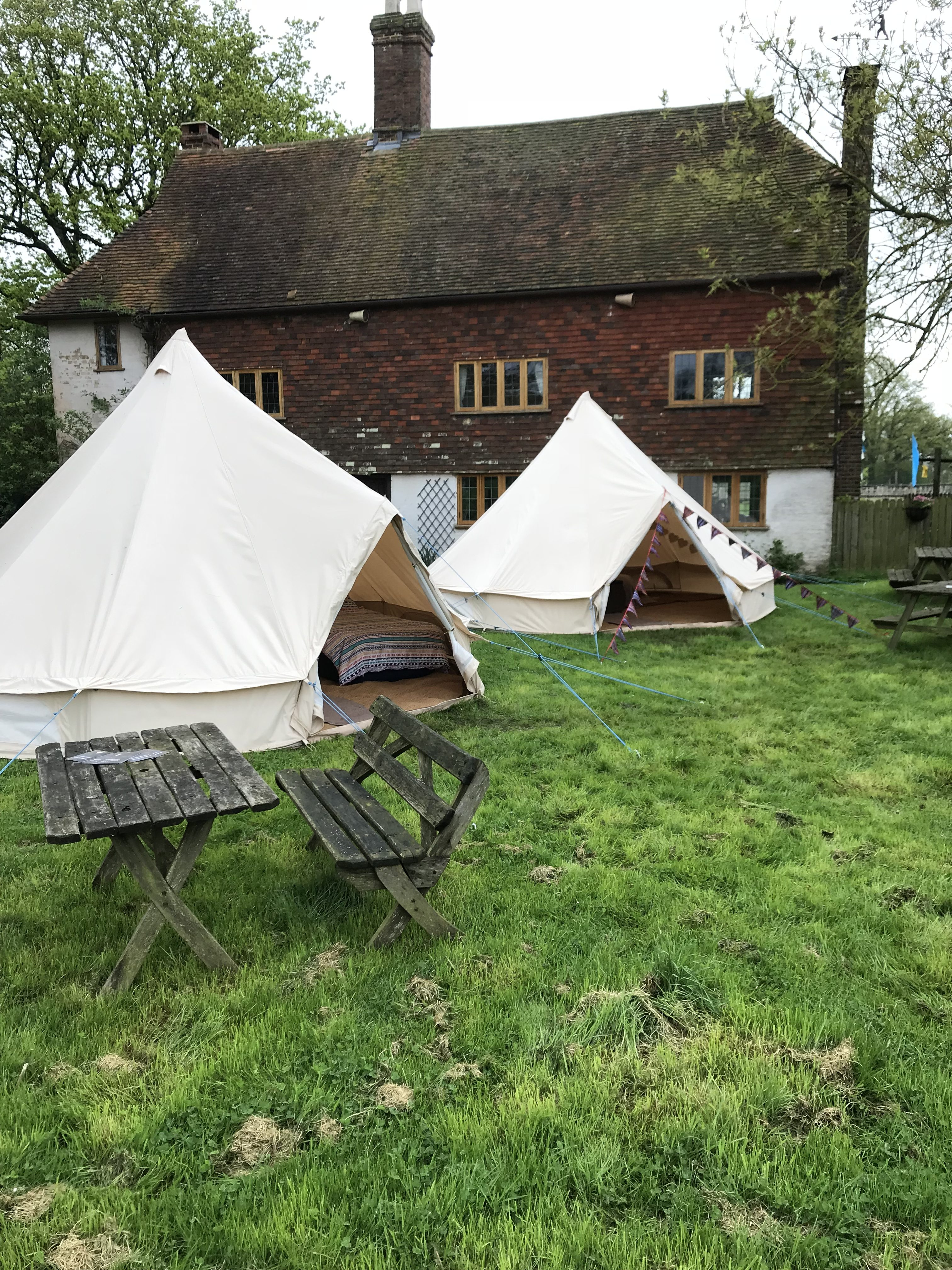 Bell tents for wedding in Kent